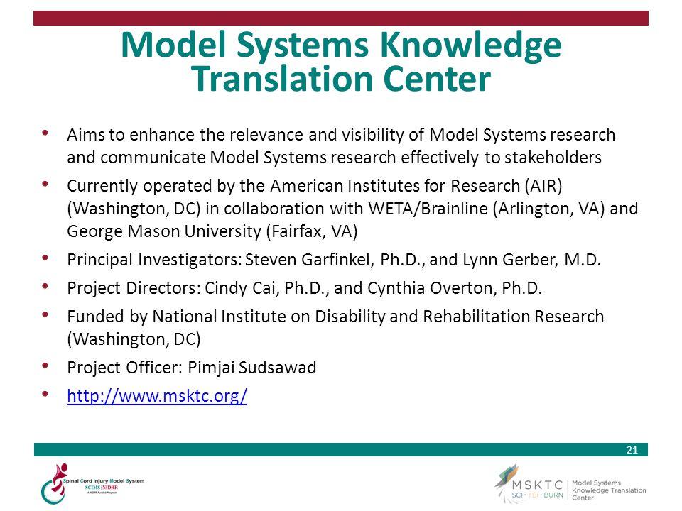 Model Systems Knowledge Translation Center