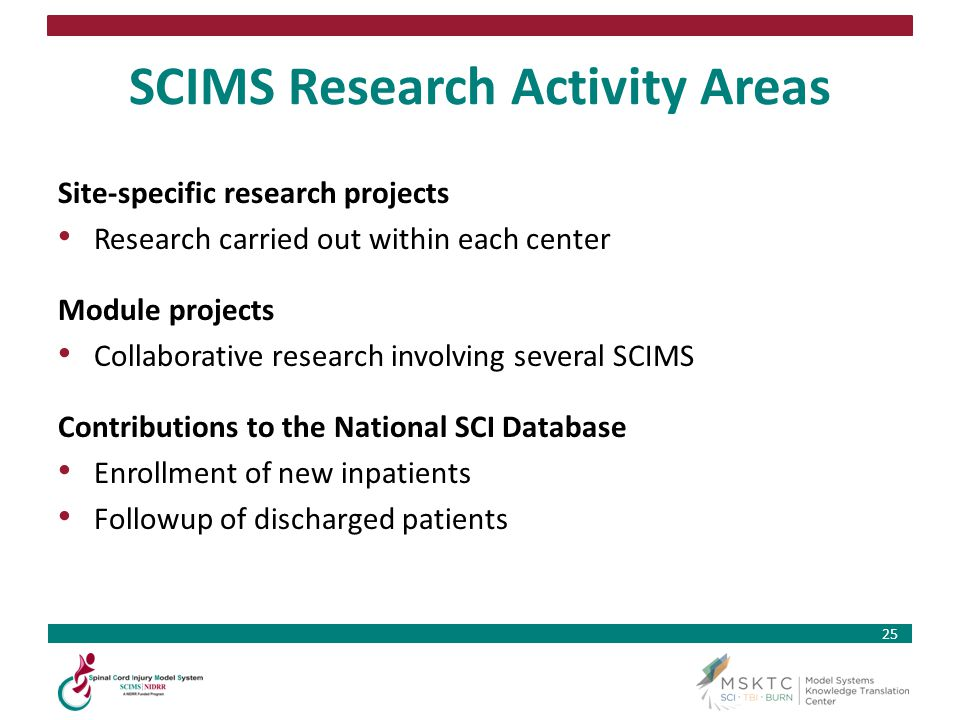 SCIMS Research Activity Areas