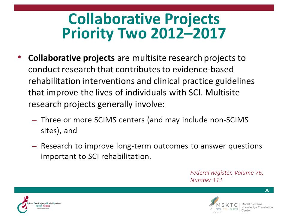 Collaborative Projects Priority Two 2012–2017