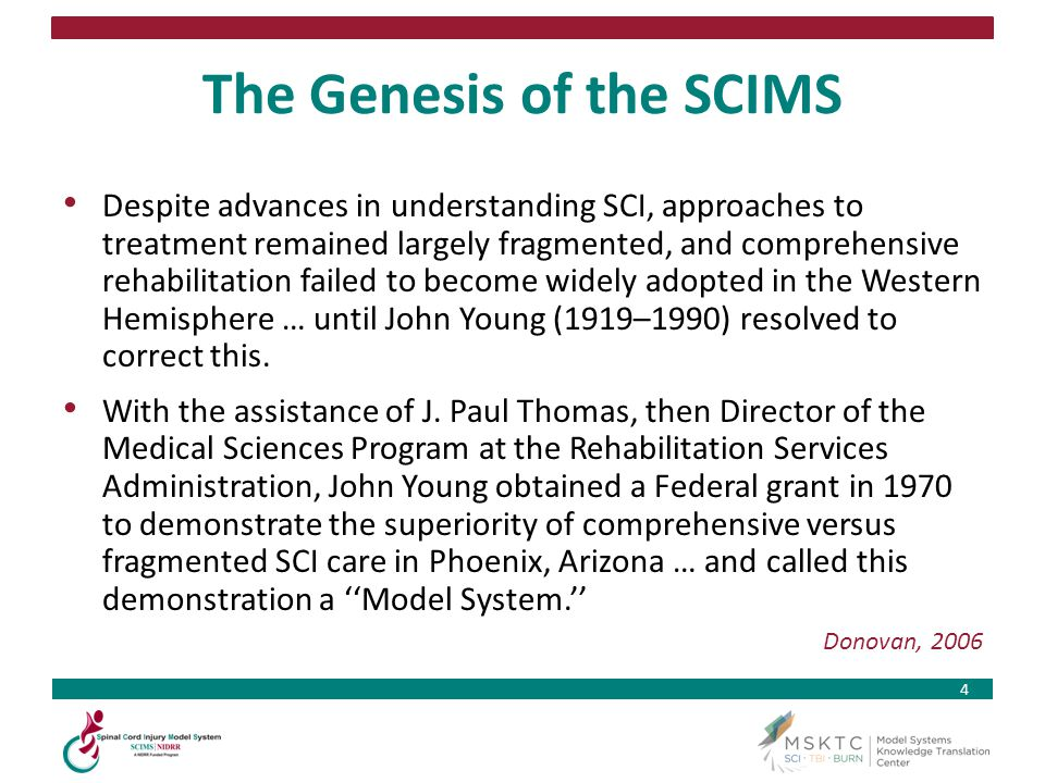 The Genesis of the SCIMS