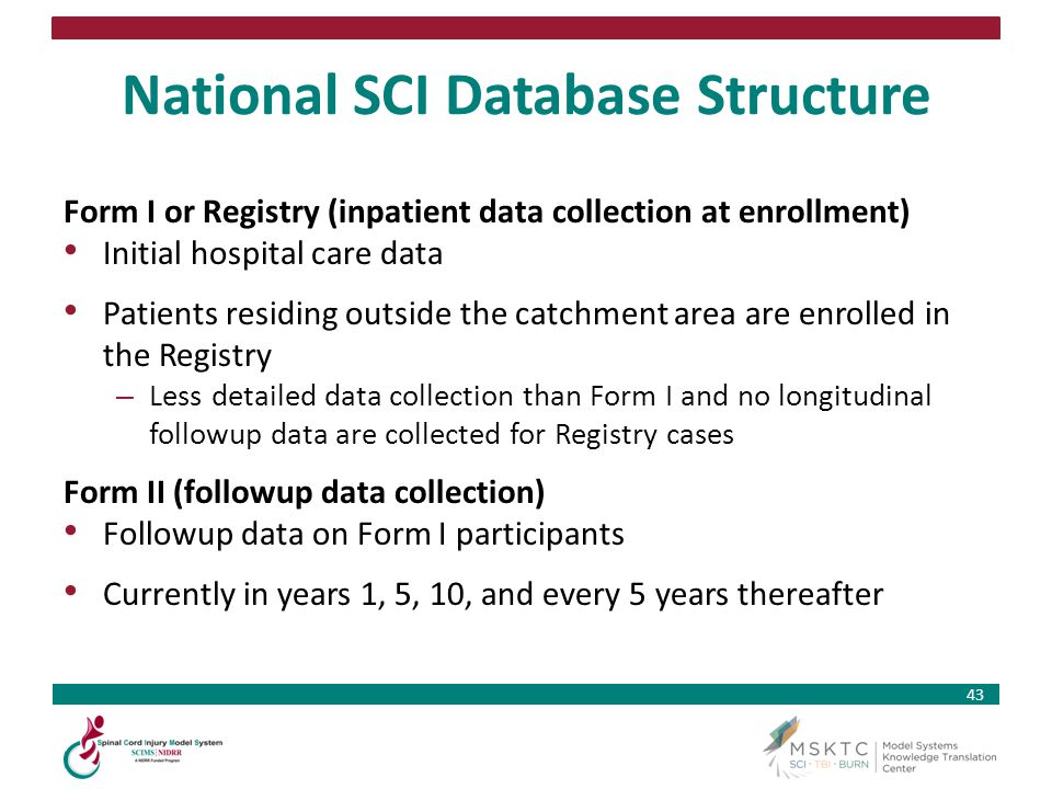 National SCI Database Structure
