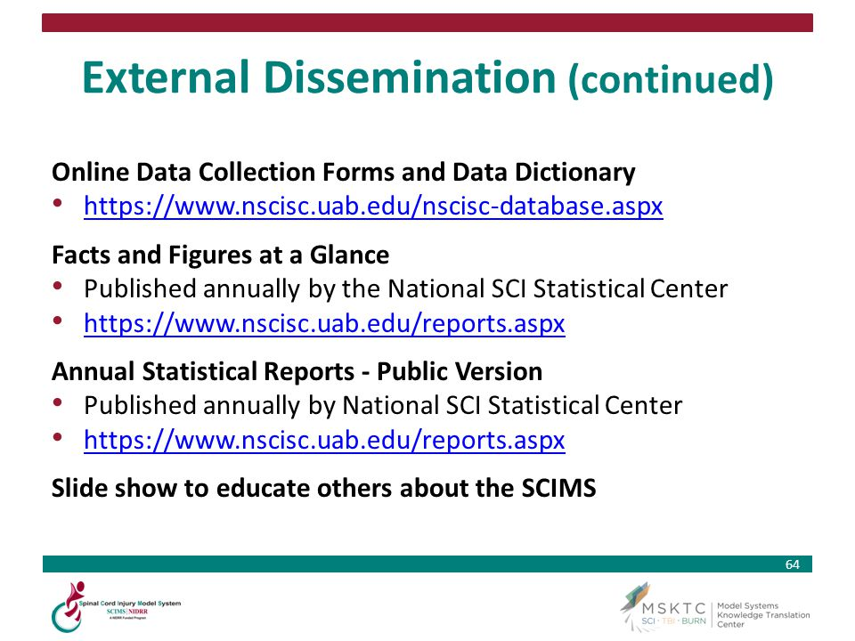 External Dissemination (continued)