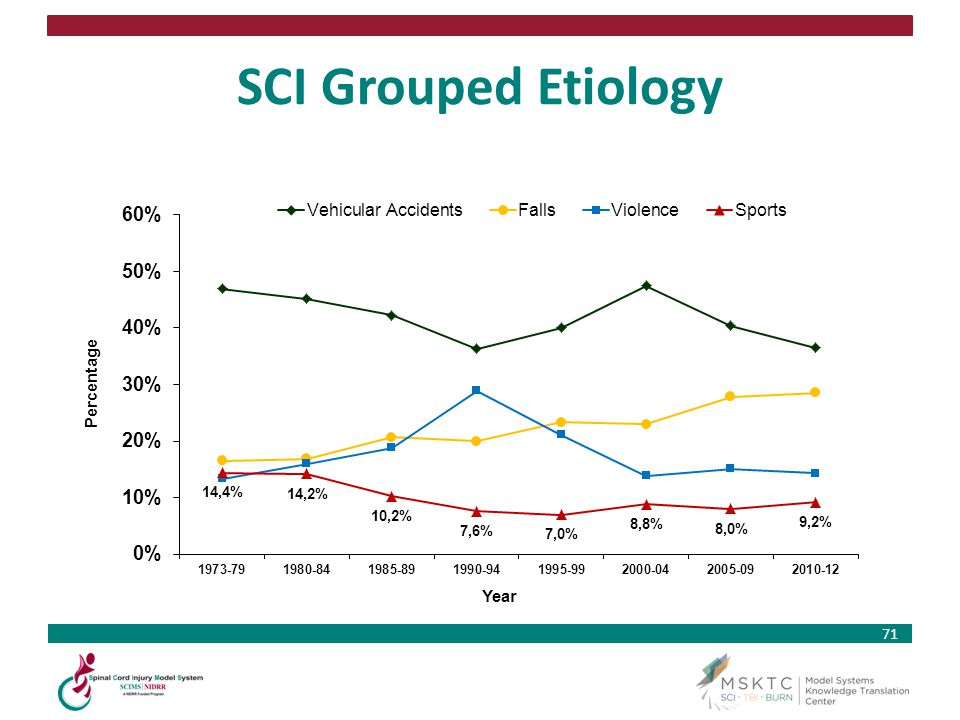 SCI Grouped Etiology Percentage