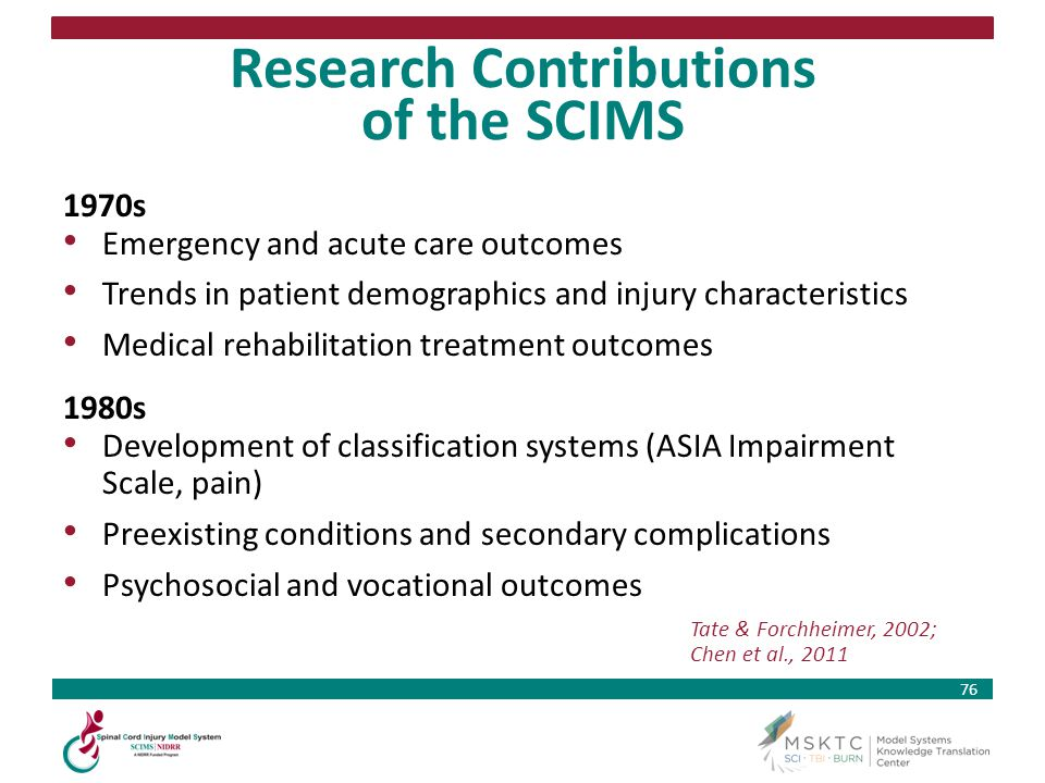 Research Contributions of the SCIMS