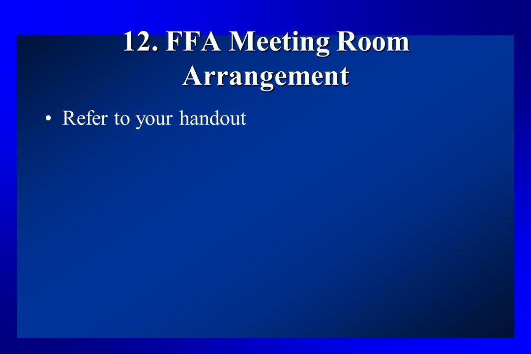 12. FFA Meeting Room Arrangement