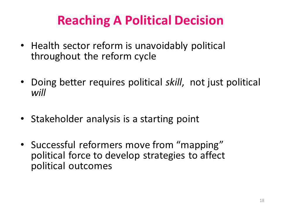 Reaching A Political Decision