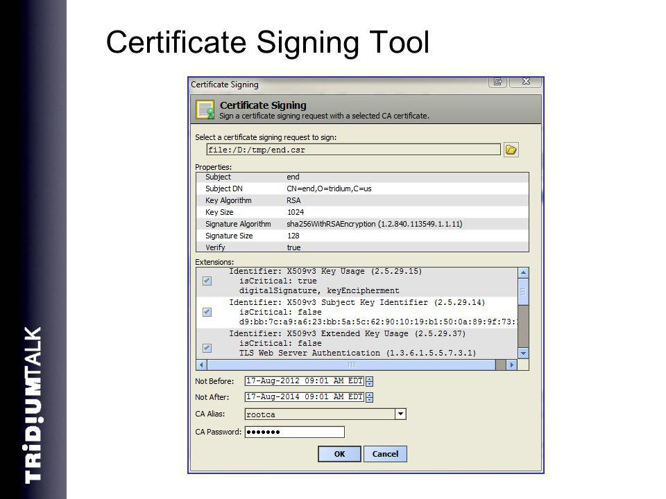 Certificate Signing Tool