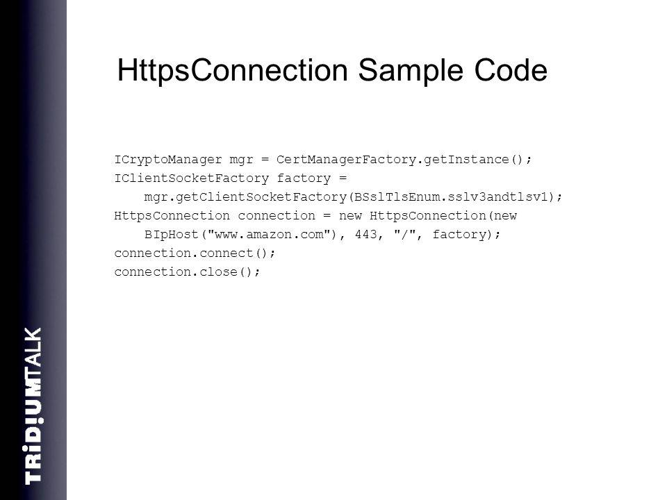 HttpsConnection Sample Code