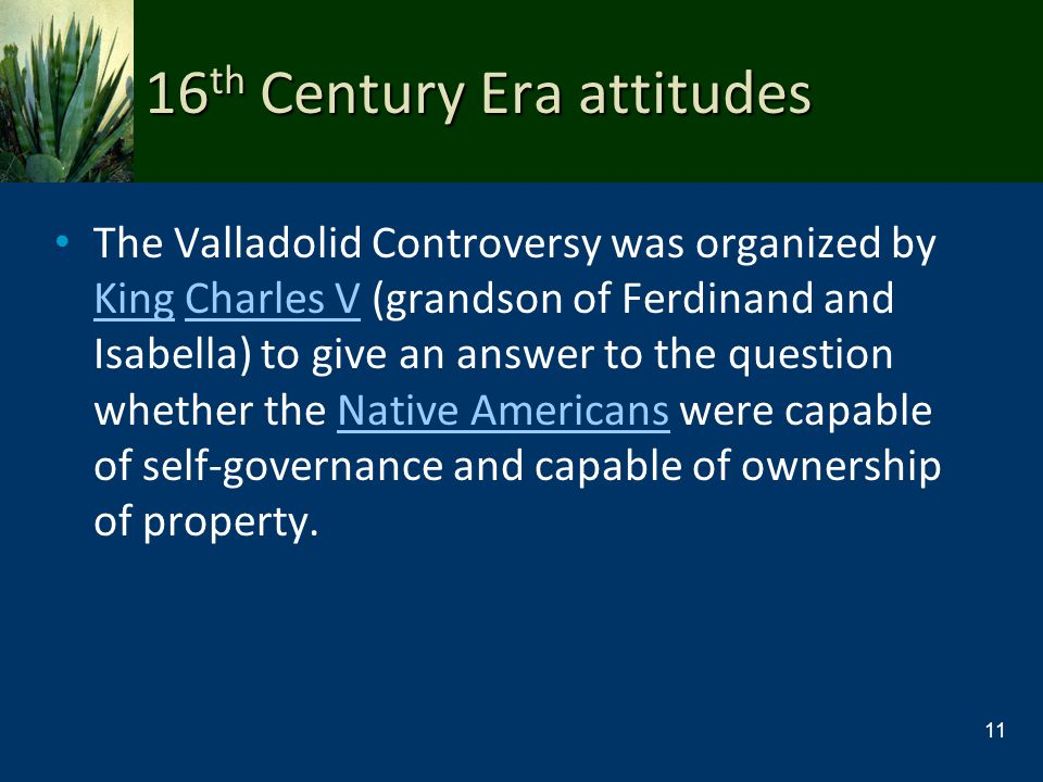 16th Century Era attitudes