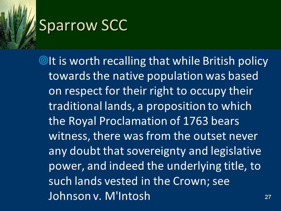 Sparrow SCC