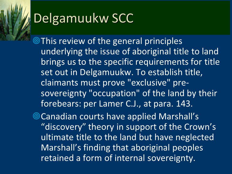 Delgamuukw SCC