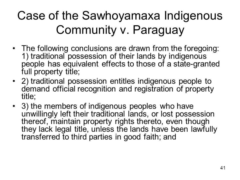 Case of the Sawhoyamaxa Indigenous Community v. Paraguay