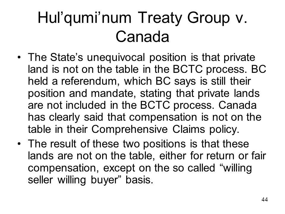 Hul'qumi'num Treaty Group v. Canada