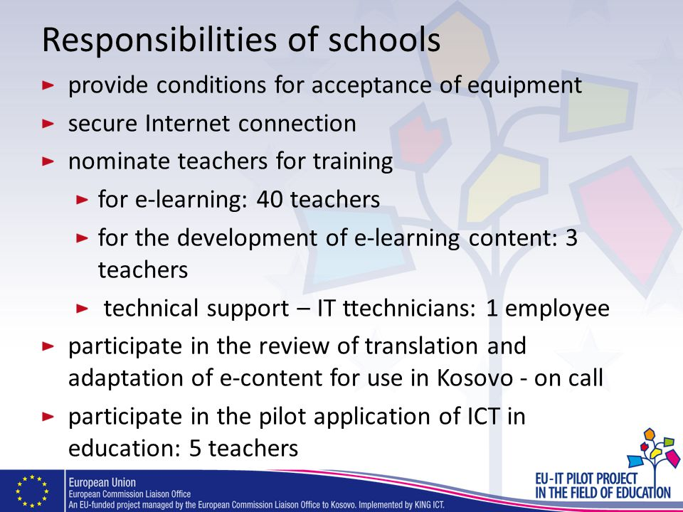 Responsibilities of schools