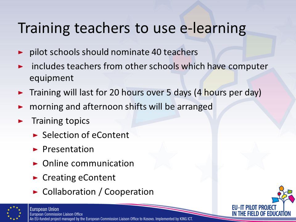 Training teachers to use e-learning