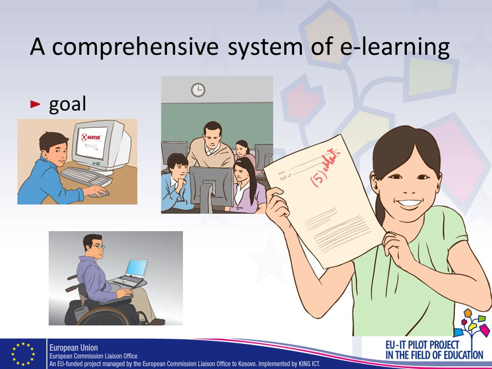 A comprehensive system of e-learning