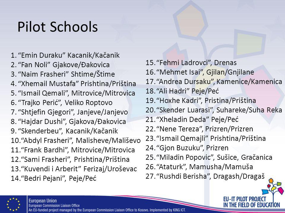 Pilot Schools Emin Duraku Kacanik/Kačanik