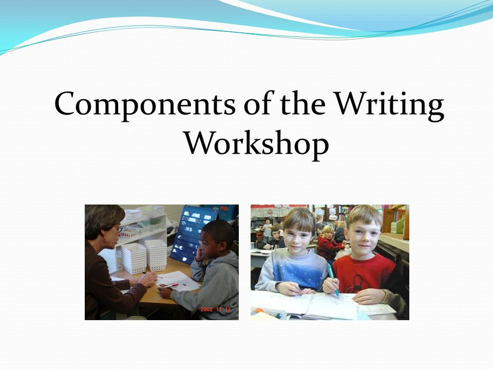 Components of the Writing Workshop
