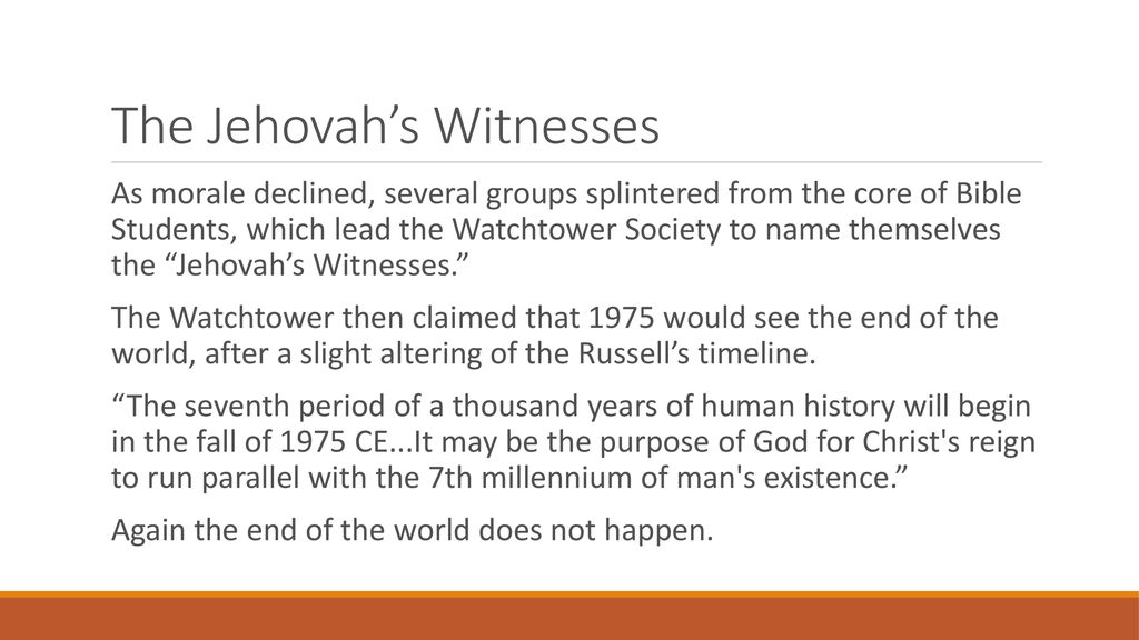 Defend the Faith 101 Jehovah's Witnesses  - ppt download
