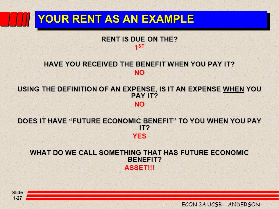 YOUR RENT AS AN EXAMPLE RENT IS DUE ON THE 1ST