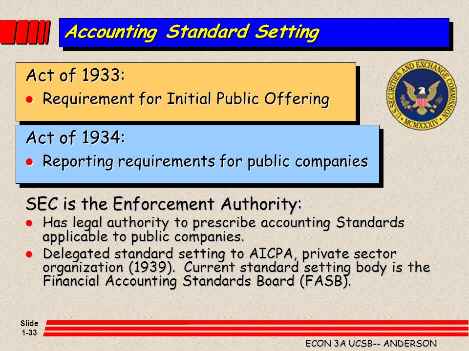 Accounting Standard Setting