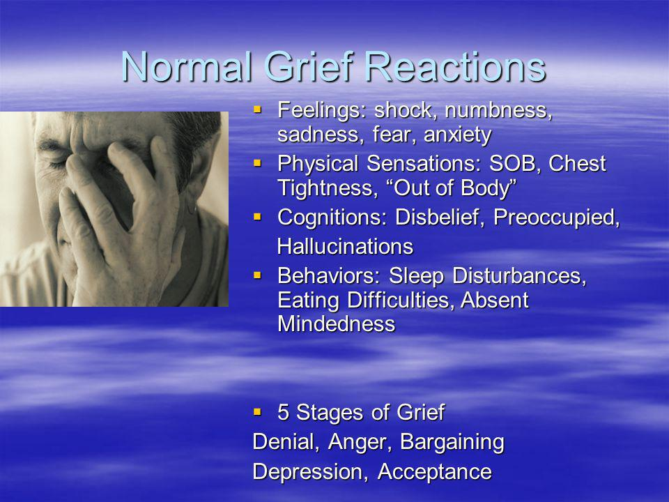 Normal Grief Reactions