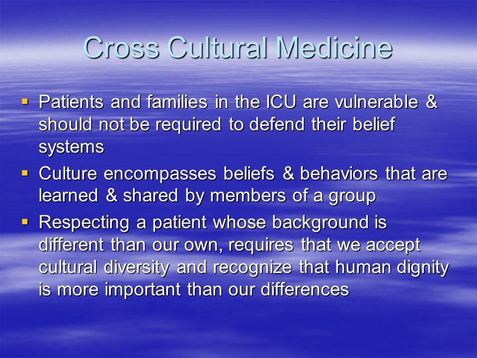 Cross Cultural Medicine