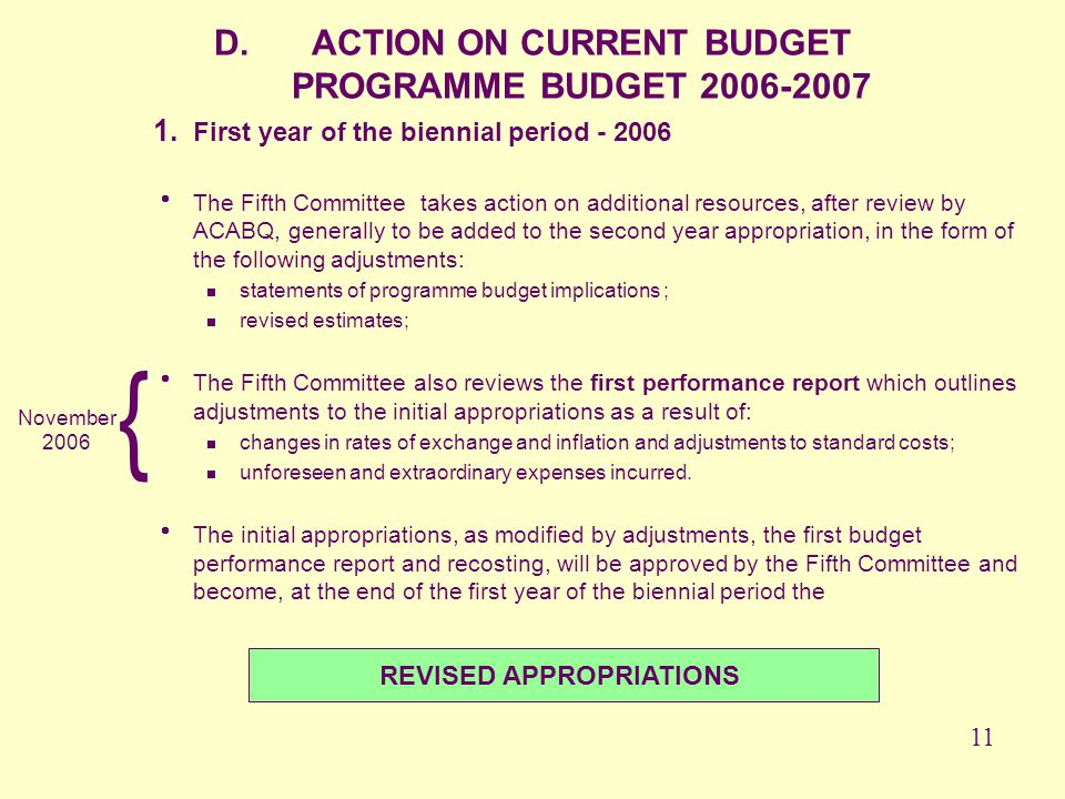 REVISED APPROPRIATIONS