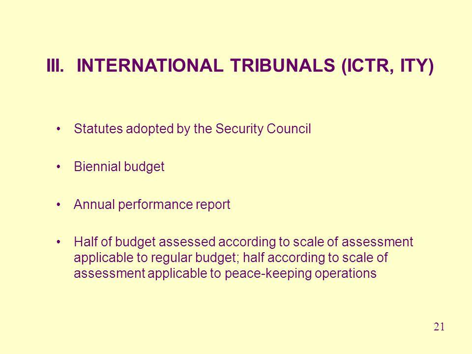 III. INTERNATIONAL TRIBUNALS (ICTR, ITY)