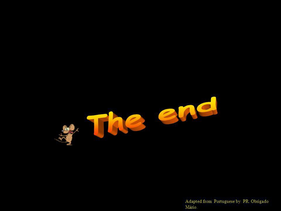 The end Adapted from Portuguese by PR. Obrigado Mário.