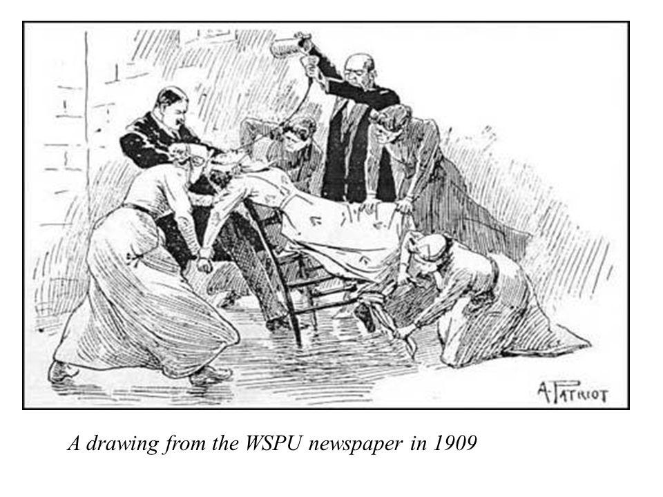 A drawing from the WSPU newspaper in 1909