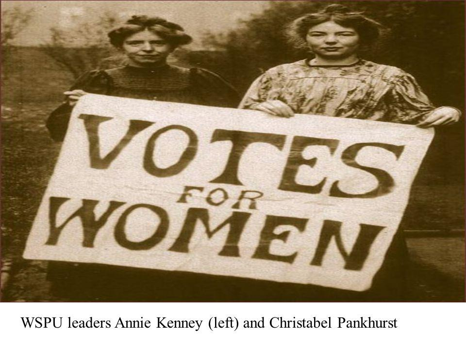 WSPU leaders Annie Kenney (left) and Christabel Pankhurst