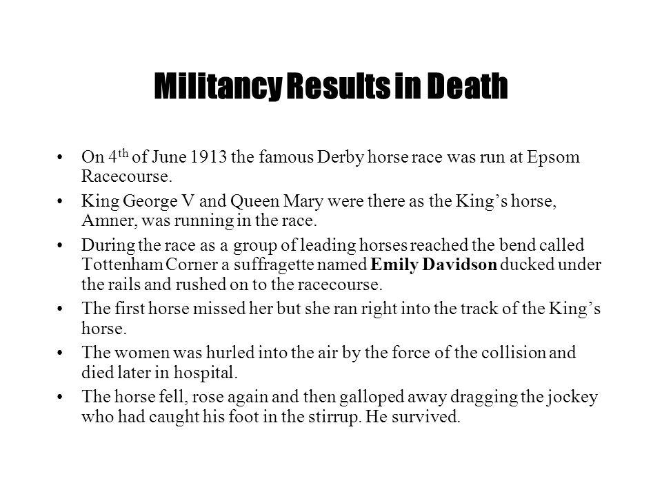 Militancy Results in Death