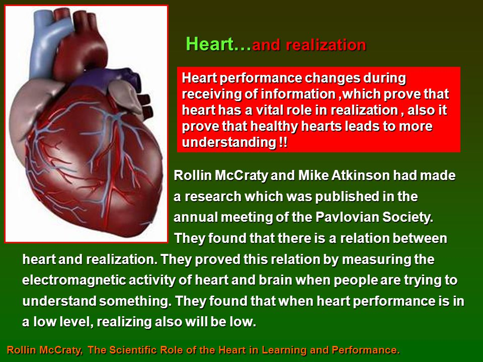Heart…and realization