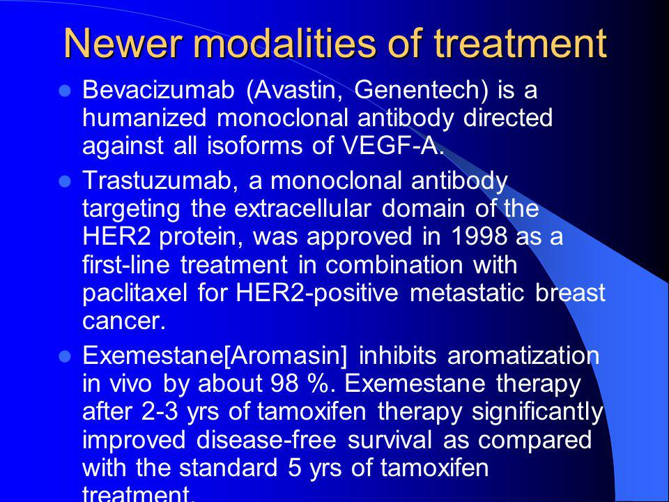 Newer modalities of treatment