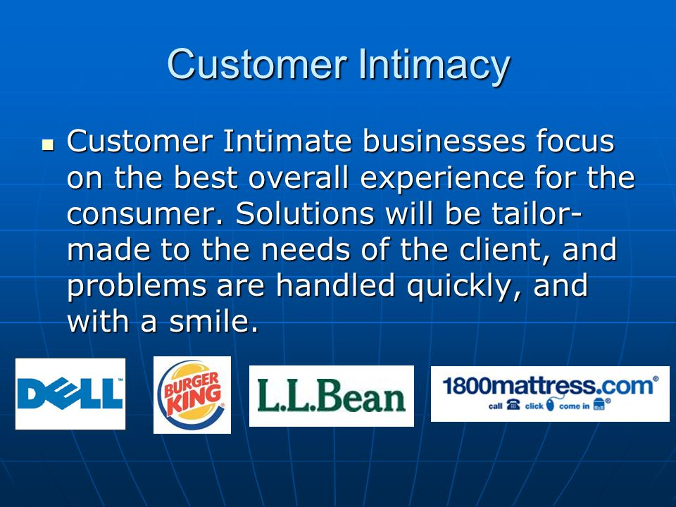 Customer Intimacy