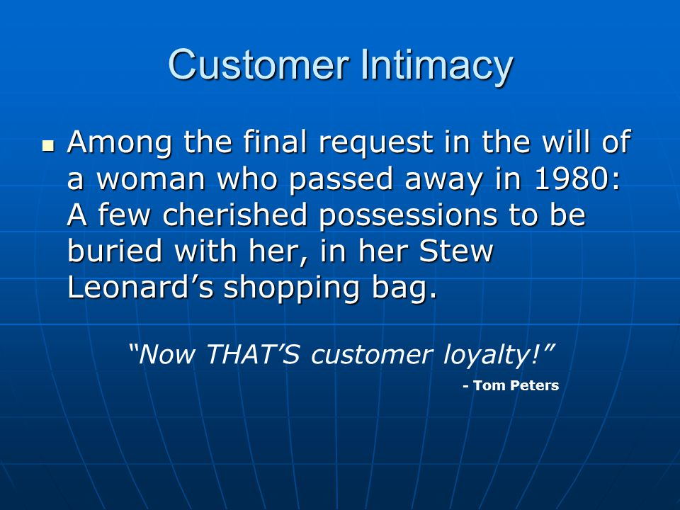 Now THAT'S customer loyalty!