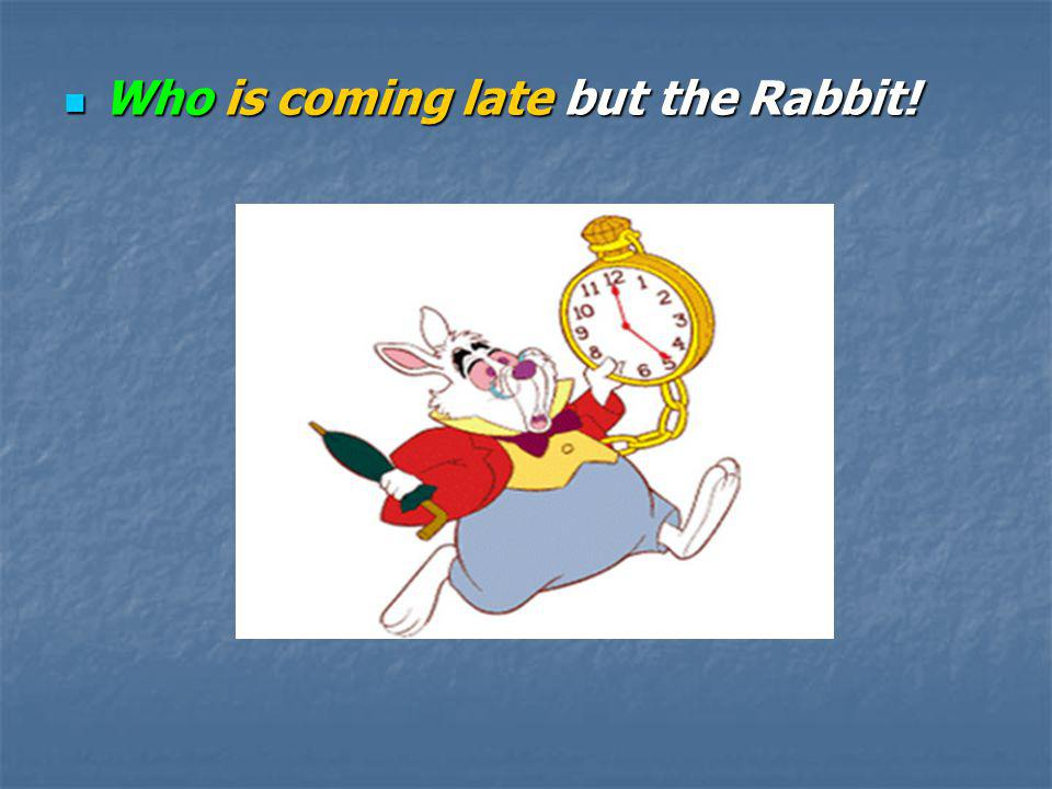 Who is coming late but the Rabbit!