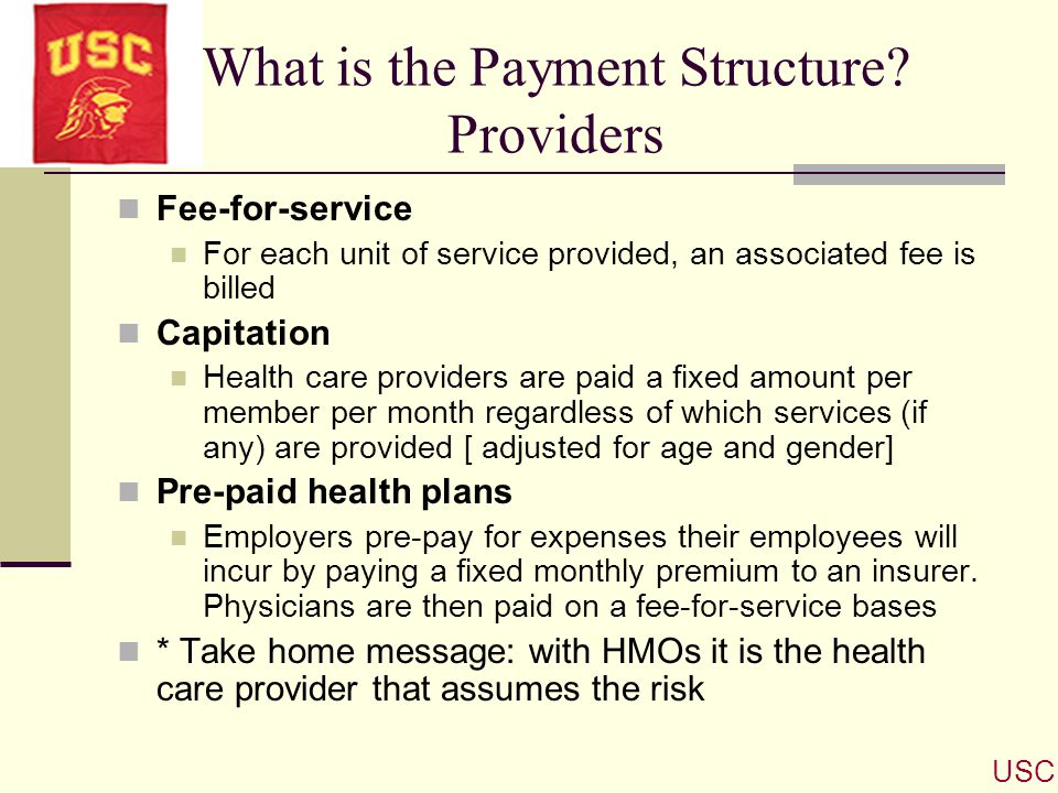 What is the Payment Structure Providers