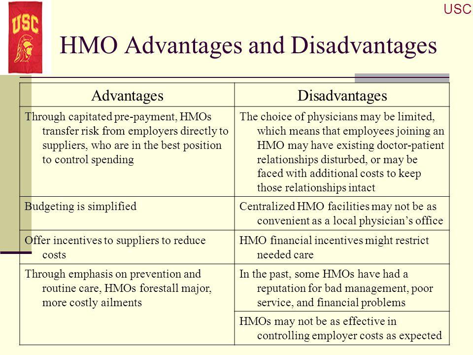 HMO Advantages and Disadvantages