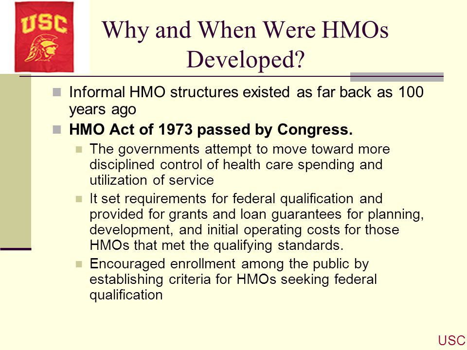 Why and When Were HMOs Developed