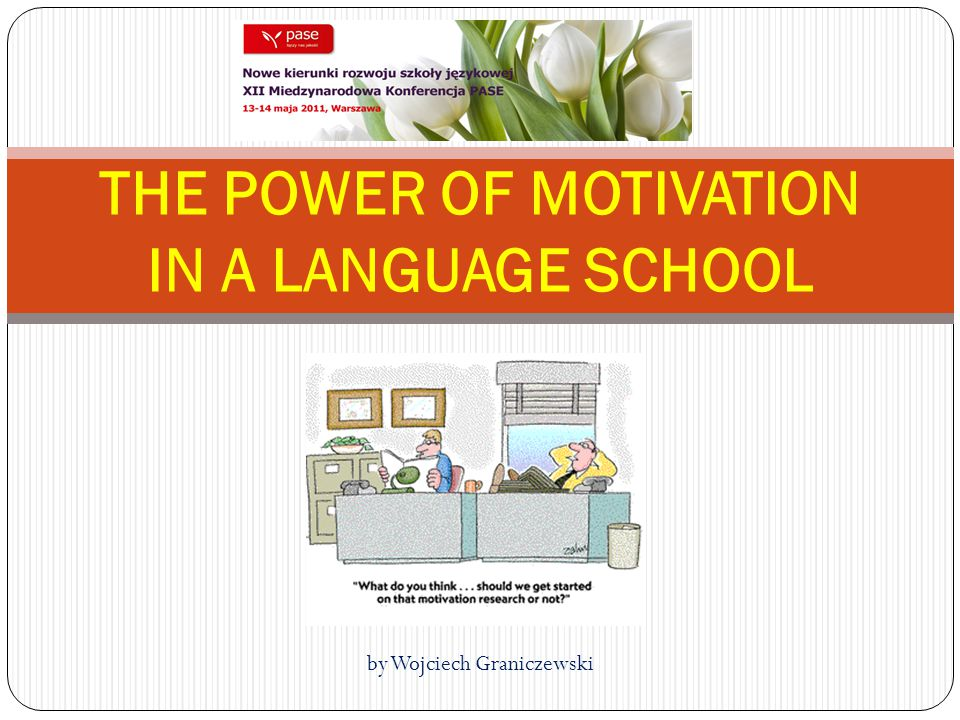 THE POWER OF MOTIVATION IN A LANGUAGE SCHOOL