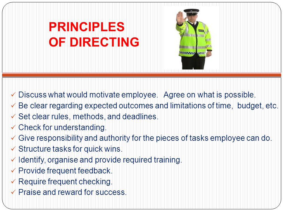 PRINCIPLES OF DIRECTING