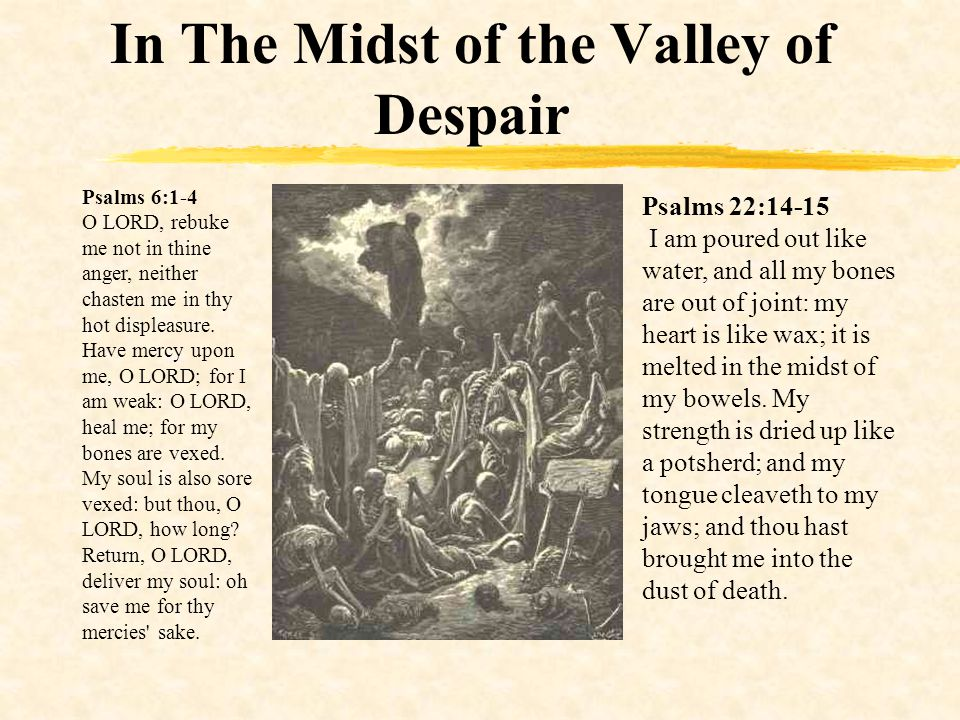 In The Midst of the Valley of Despair