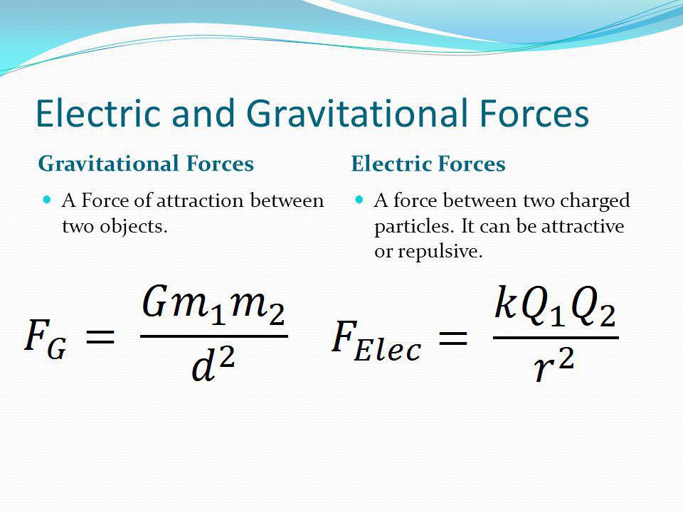 Electric and Gravitational Forces