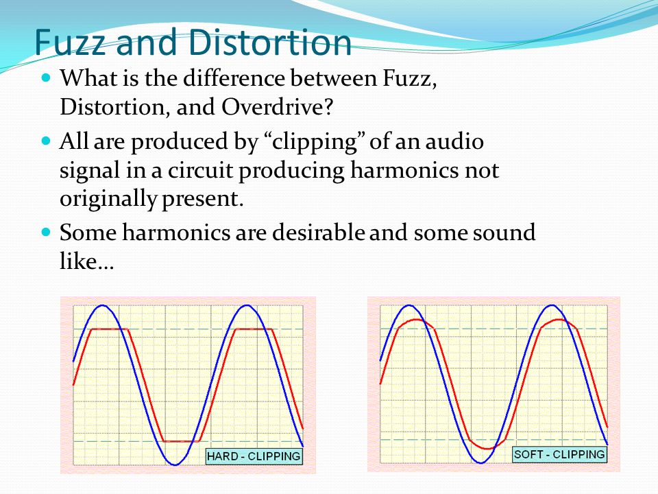 Fuzz and Distortion What is the difference between Fuzz, Distortion, and Overdrive