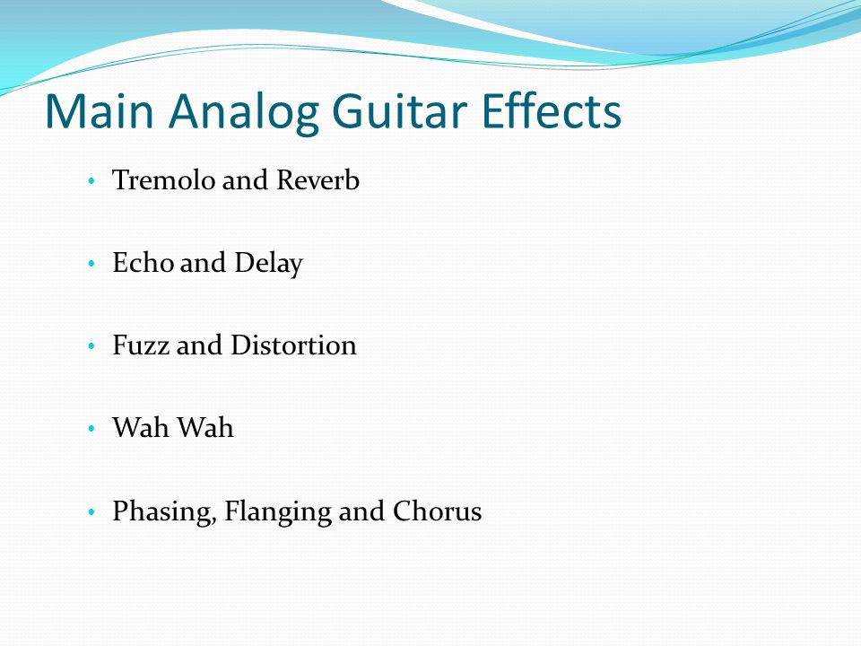 Main Analog Guitar Effects