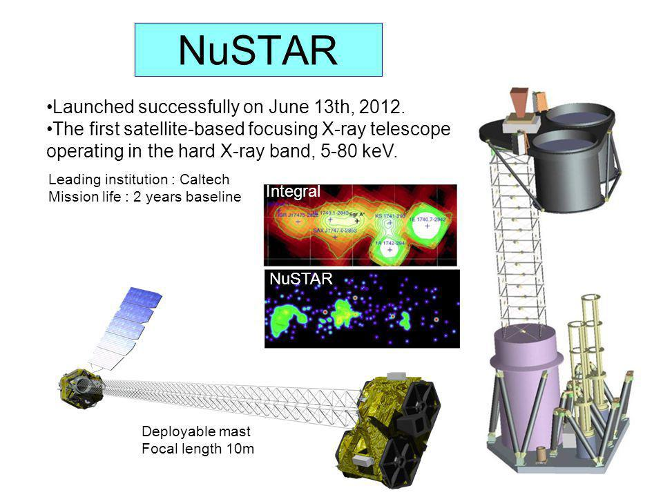 NuSTAR Launched successfully on June 13th, 2012.