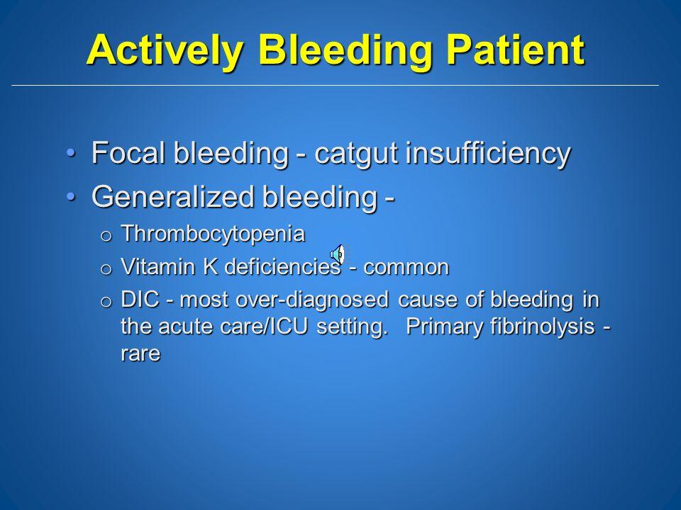 Actively Bleeding Patient