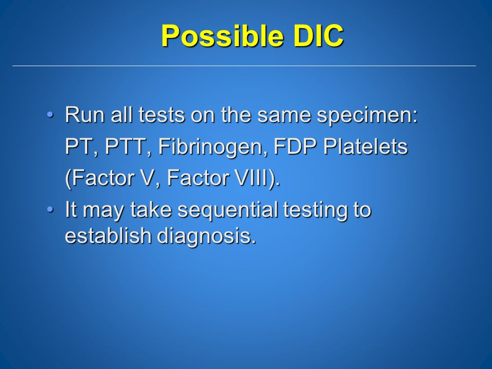 Possible DIC Run all tests on the same specimen: